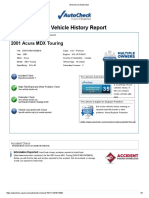 Acura Mdx Autocheck'