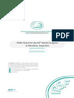 IPSF PARO Grant for the 64th World Congress in Mendoza, Argentina