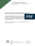 Fuentes de Información y Bases de Datos Para Investigación