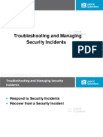 9. Troubleshooting and Managing Security Incidents (21)