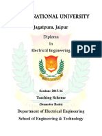Diploma in EE Syllabus III-VI Sem