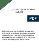 Beyond Use Date (Bud) Sediaan Farmasi
