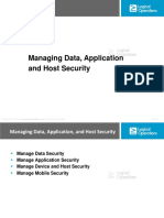 3. Managing Data, Application, And Host Security (56)