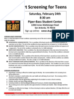 Free Heart Screening for Teens on 2-24-18