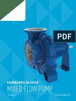 Fairbanks Nijhuis Mixed Flow Irrigation Pump Brochure