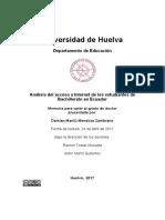 Analisis Del Acceso a Internet