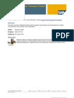 Stock Transfer Configure Document