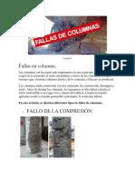 Fallas en Columnas