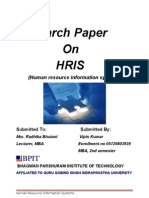 Final Research Paper on Hris