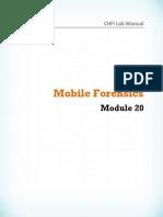 CHFI v8 Module 20 Mobile Forensics
