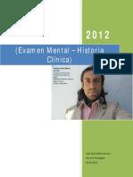 Informe Psicologico Examen Mental - Historia Clinica