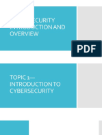 Section 1 - Cyber Security Introduction and Overview