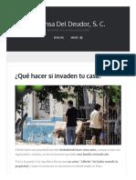 ¿Qué Hacer Si Invaden Tu Casa_ – Defensa Del Deudor, S