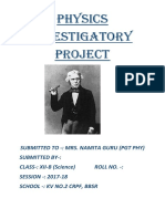 Physics Investigatory Project 2017-18 cbse class XII