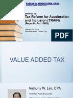 Fabian & Associates, CPAs-TRAIN- VAT, Percentage and Excise Tax