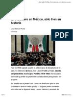 El desafuero en México, sólo 8 en su historia