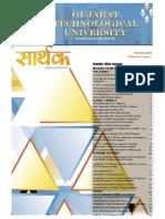 GTU Newsletter - Sarthak Volume 4 Issue 1