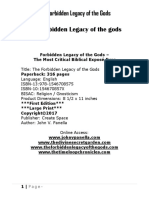 The Forbidden Legacy of the Gods