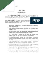 Bisaya Affidavit