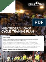 Nightrider 100km Cycle Training Plan
