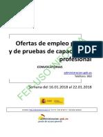 BOLETIN SEMANAL CONVOCATORIA OFERTA EMPLEO PUBLICO DEL 16 AL 22 DE ENERO DE 2018.pdf