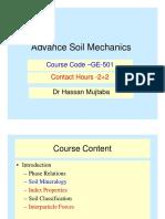 Advanced Soil Mechanics Lec 1 Basic Introduction