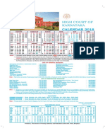 Karnataka High Court Calendar,2018