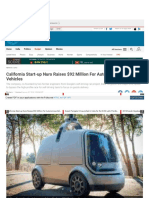 California Start Up Nuro Unveils Autonomous Delivery Van Raises 92 Million