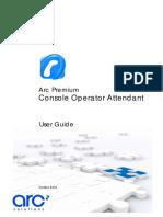 Arc Premium Console Operator Manual