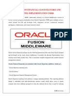 ORACLE FUSION FINANCIAL CLOUD FEATURES AND CREATING IMPLEMENTATION USERS