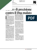 L'arma di precisione contro il Dna malato - Il Messaggero del 31 gennaio 2018