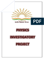 Physics Investigatory Project CBSE 2017-18