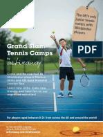 Active Away Junior Tennis Camps Brochure