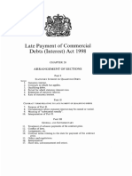 English Law - Late Payment of Commercial Debts (Interest) Act 1998