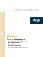 BE Types of Organisation