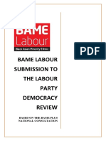 BAME Labour Submission to Labour Democracy Review