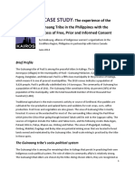 Case Study FPIC Guinaang Tribe