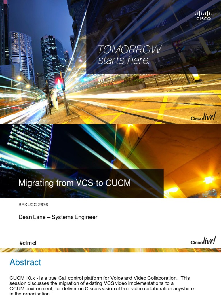 BRKUCC-2676 Migrating From VCS to CUCM | Conference Call