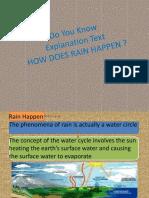 Peta Konsep How Does Rain Happen