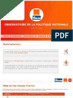 Rapport de résultats - BVA Orange La Tribune - Baromètre politique Vague 107 - Janvier 2018
