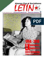Boletin del Ateneo Paz y Socialismo de febrero de 2018