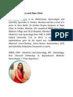 Dr. Devika Chopra and Hope Clinic