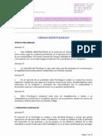 Código Deontológico Consejo Adaptación Ley Omnibus