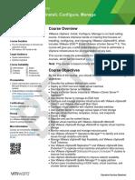 EDU DATASHEET VSphereInstallConfigureManage V6 BETA39