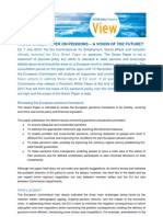 The EU Green Paper on Pensions a Vision of the Future