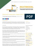 Multimodal Transportation Chapter 3 Part 3