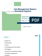 Project Risk Management Basics Cost and Schedule Impacts - R. ROCCO