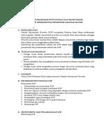 Panduan Prosedur Penyusunan Dan Monitoring
