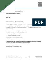 Modelo de Carta de Parceria Institucional