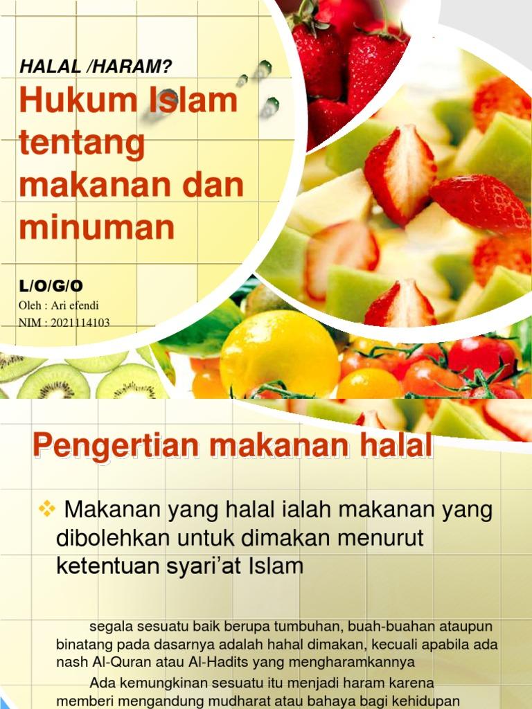 Ppt Halal Dan Haram